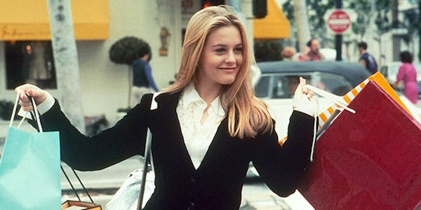 Cher going shopping in Clueless