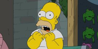 homer simpson screaming in anticipation on the simpsons