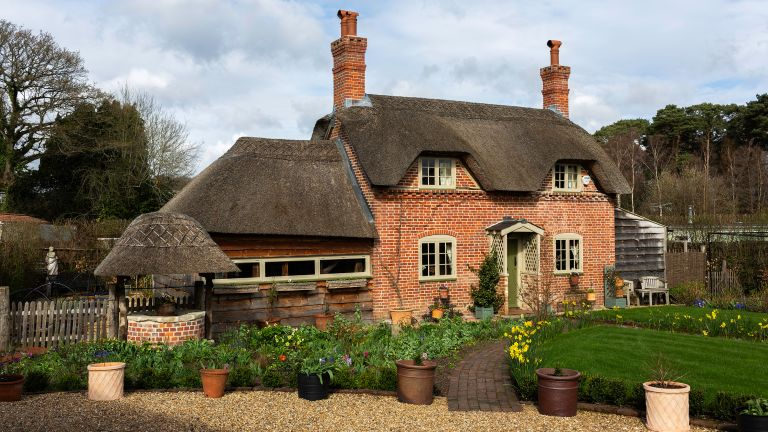 thatched cottage exterior