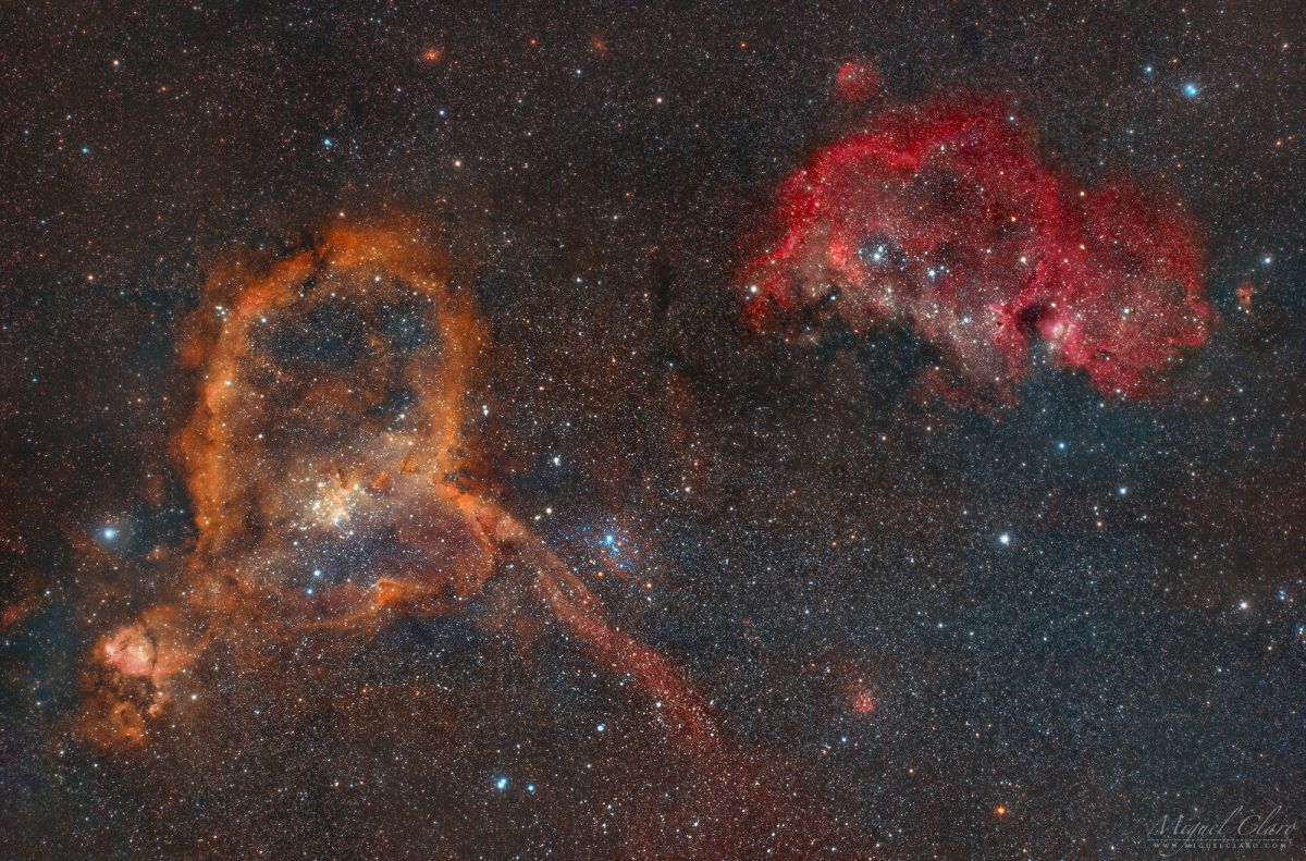 Cosmic love: Heart and Soul nebulas will capture your heart on Valentine's Day (photo)