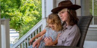 Carl and Judith in _The Walking Dead._