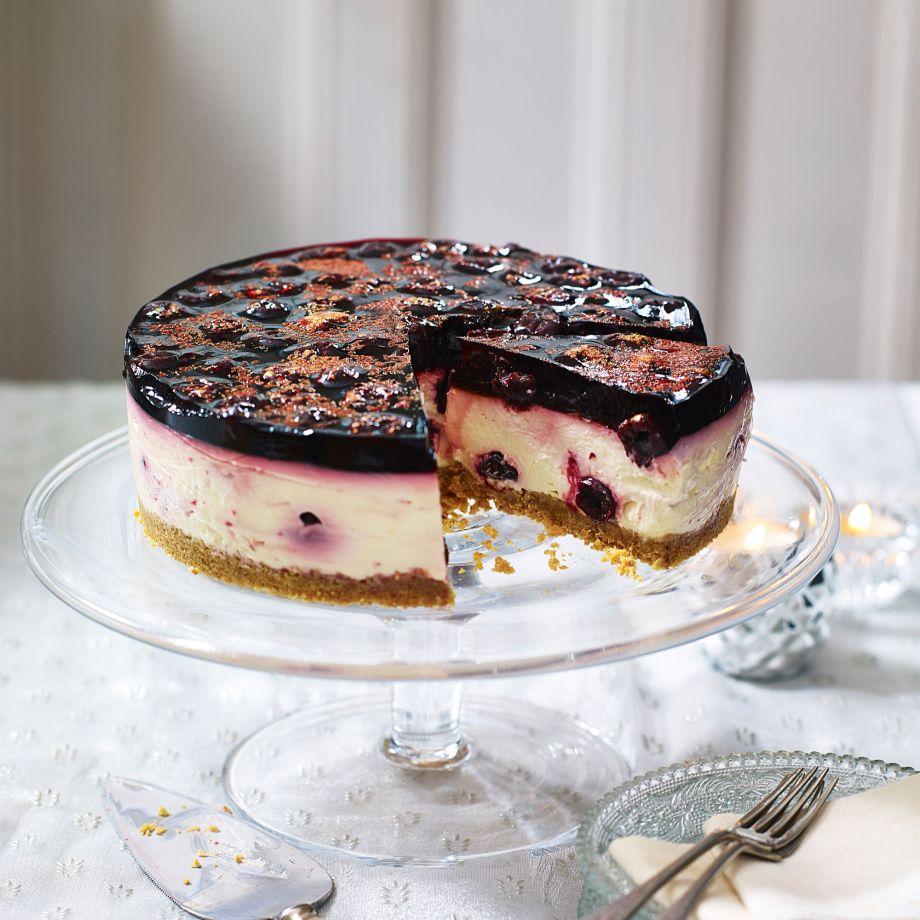 Black Cherry And Kirsch Cheesecake