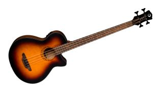 Luna Guitars has introduced the Tribal Tobacco Sunburst bass