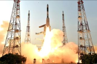 GSAT-6A communications satellite launch