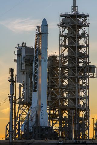 Falcon 9 and Dragon at LC-39A