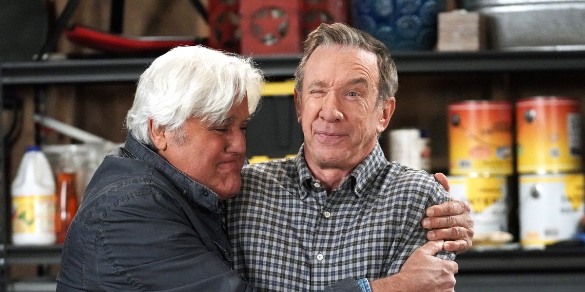 jay leno hugging mike baxter in last man standing's series finale