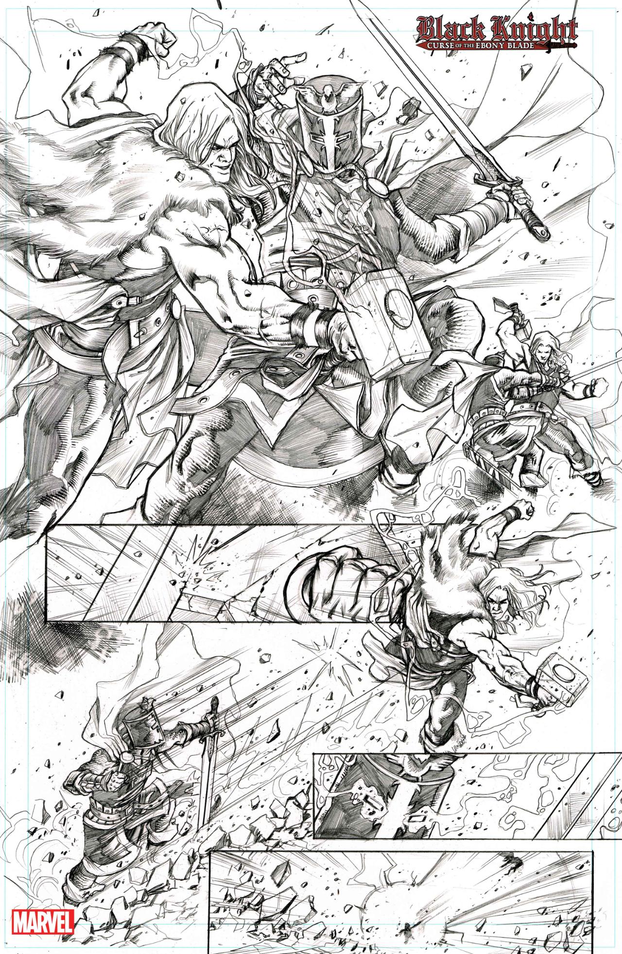 Black Knight: Curse of the Ebony Blade #2 and 3