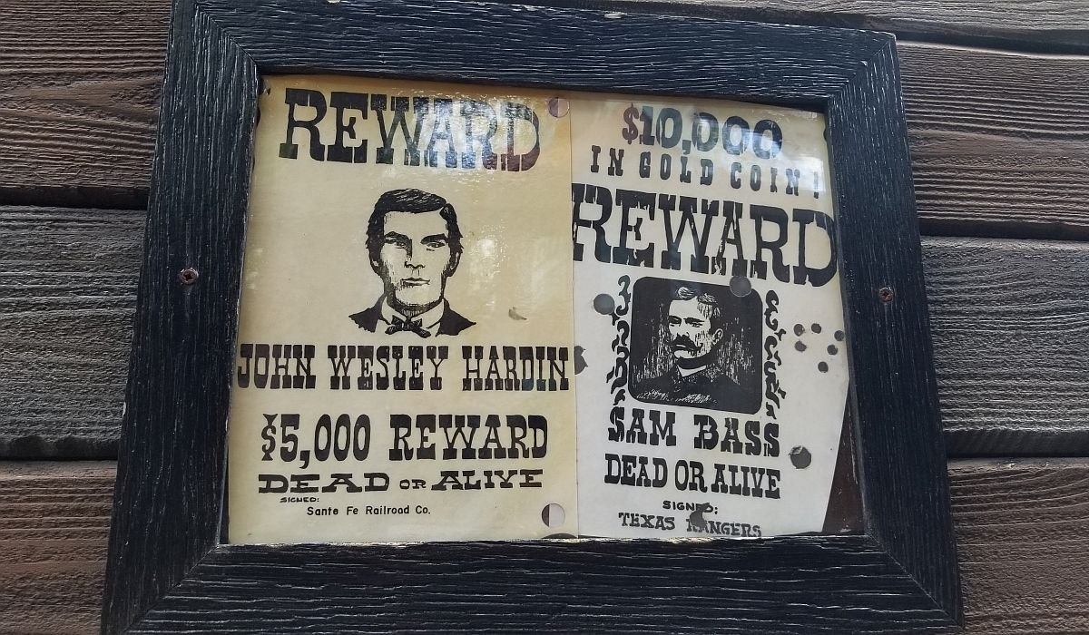 Wanted Posters behind Big Thunder Mountain Railroad