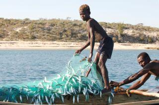 Local fishermen in Madagascar.
