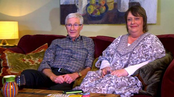 Kathy Burke and Paul O'Grady on 2014's Gogglebox celebrity special
