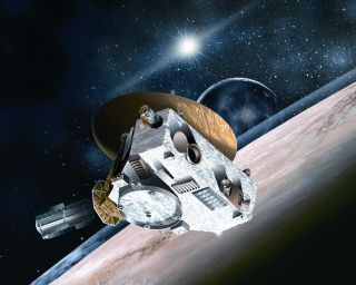 New Horizons Spacecraft Flying by Pluto