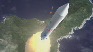 Epsilon Rocket Launch Artist's Conception