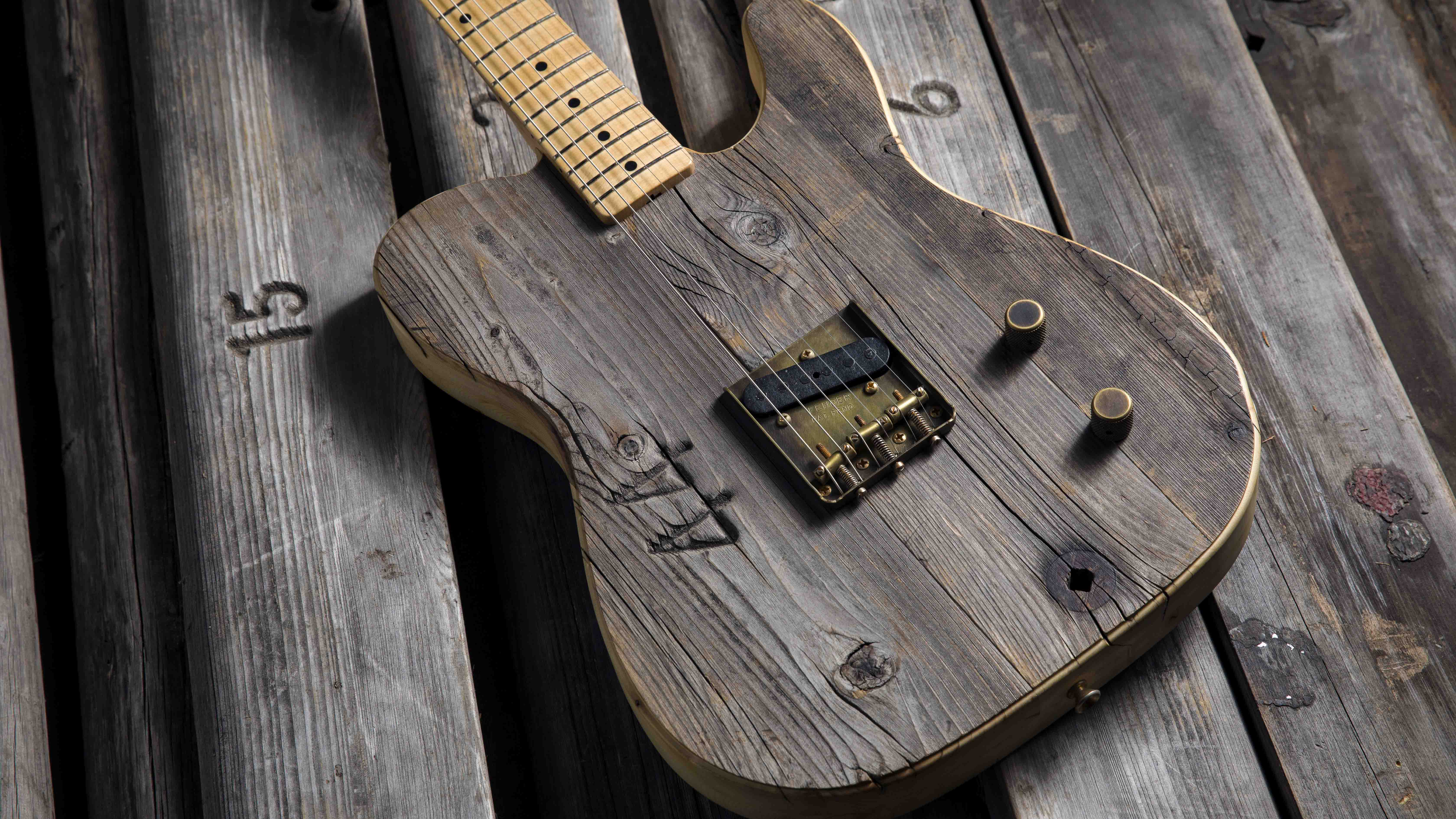 Summer NAMM 2017: Fender Custom Shop unveils Front Row Legend Esquire, built from Hollywood Bowl bench boards