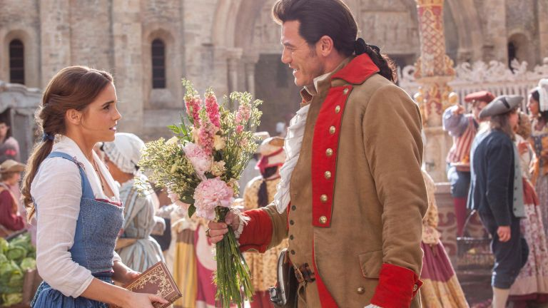Still of the Beauty and the Beast film, starring Emma Watson and Luke Evans