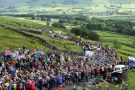 The road from Hawes up Buttertubs was lined with hundreds of spectators, cheering on the stars as they passed by on stage one of this year's Tour de France from Leeds to Harrogate.