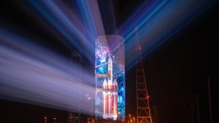 Christie pure RGB laser projectors helped to mark the launch of United Launch Alliance's (ULA) Delta IV Heavy rocket at Cape Canaveral with the first-ever 3D projection mapping on an operational rocket.