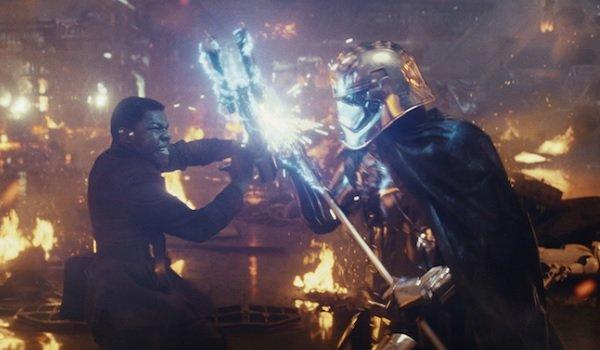 Star Wars: The Last Jedi John Boyega Finn's fire fight with Phasma