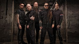 A press shot of Five Finger Death Punch