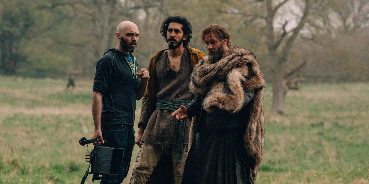 David Lowery Dev Patel and Joel Edgerton making The Green Knight