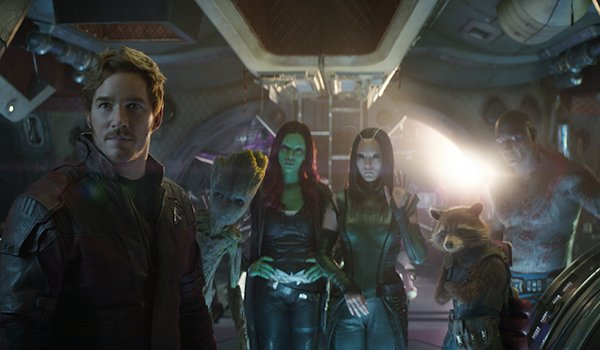 The Guardians of the Galaxy greeting Thor in Avengers: Infinity War