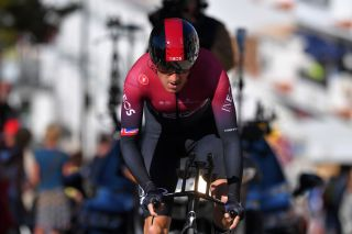 LAGOA PORTUGAL FEBRUARY 23 Geraint Thomas of The United Kingdom and Team INEOS during the 46th Volta ao Algarve 2020 Stage 5 a 203km Individual Time Trial stage from Lagoa to Lagoa ITT VAlgarve2020 on February 23 2020 in Lagoa Portugal Photo by Tim de WaeleGetty Images