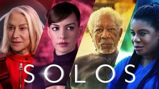 Nogle af de medvirkende i Amazon Prime's Solos, herunder Anne Hathaway og Morgan Freeman