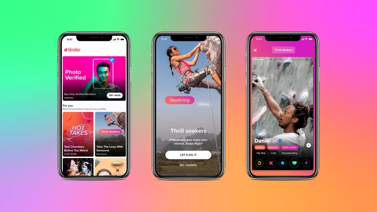 Tinder Explore app on a smartphone