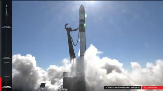 A Rocket Lab Electron rocket nearly took off from the company's launch facility in New Zealand on Dec. 11, but launch was aborted seconds before takeoff.