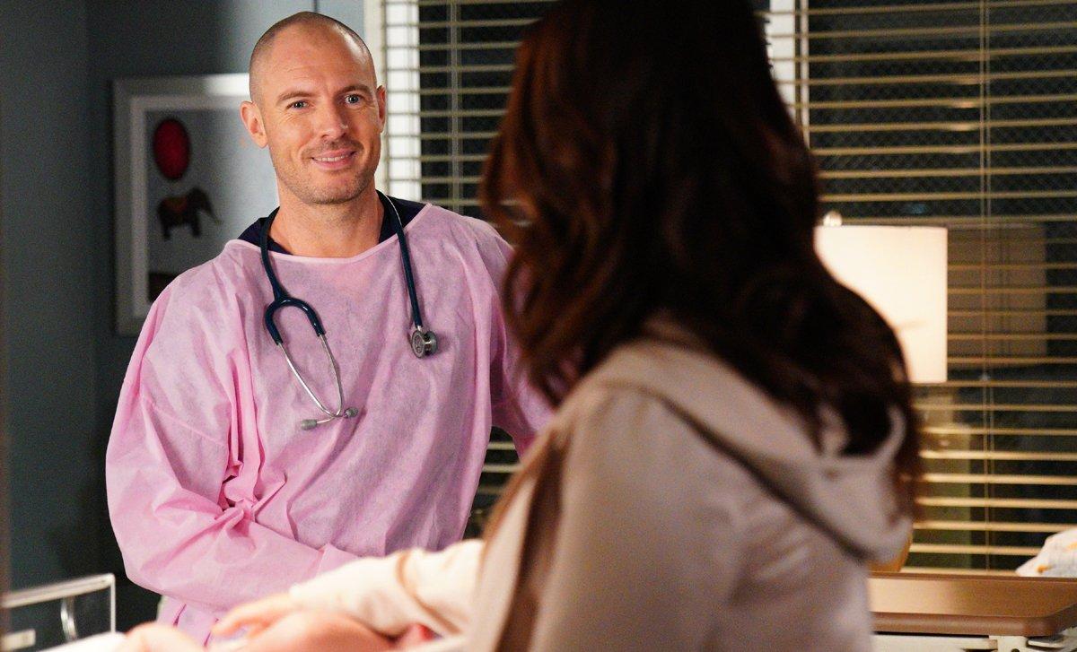 Grey's Anatomy Season 16 Richard Flood Dr. Cormac Hayes and Camilla Luddington as Dr. Jo Karev