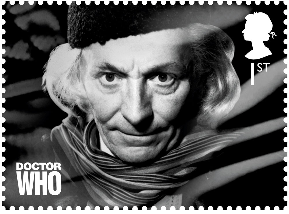 Stamp showing William Hartnell as The Doctor