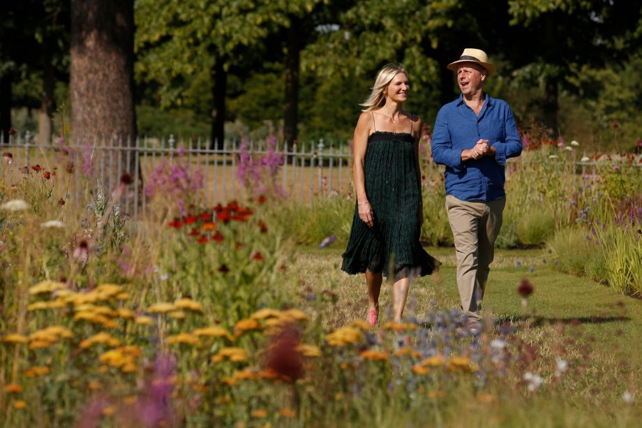 Jo Wiley and Joe Swift at RHS Hampton Court Palace Flower Show