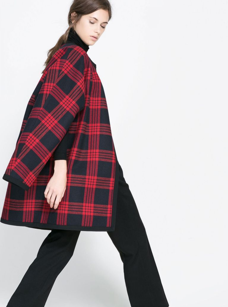 Photo of Zara Checked Studio Cape