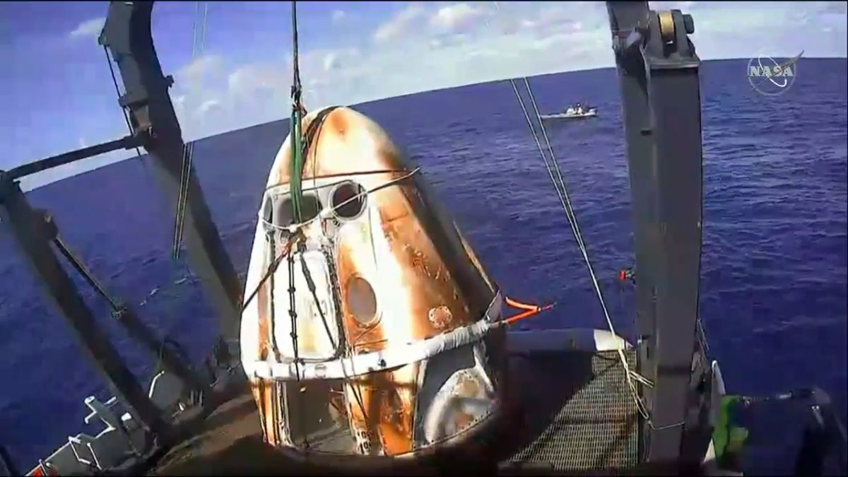 SpaceX's Crew Dragon Looks Just Like a Toasted Marshmallow After Fiery Re-Entry