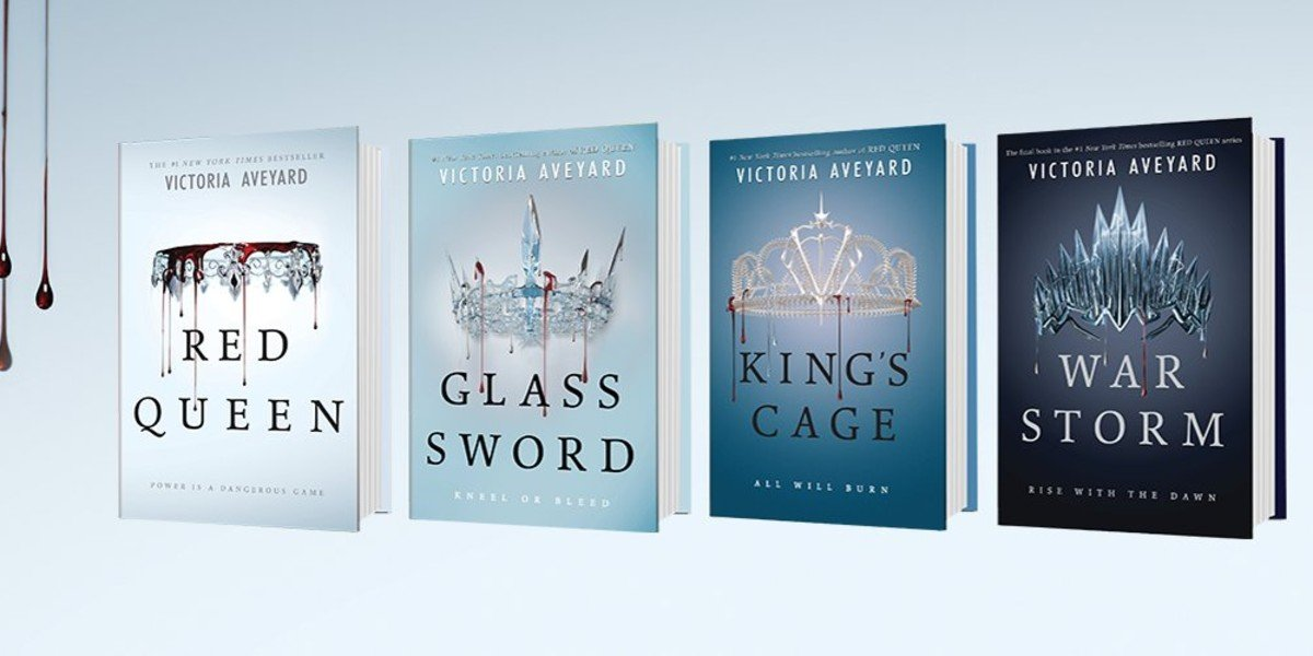 The four main books in the Red Queen series