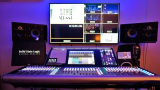 Solid State Logic Live L500 digital audio mixing console at Crossroads Christian Church