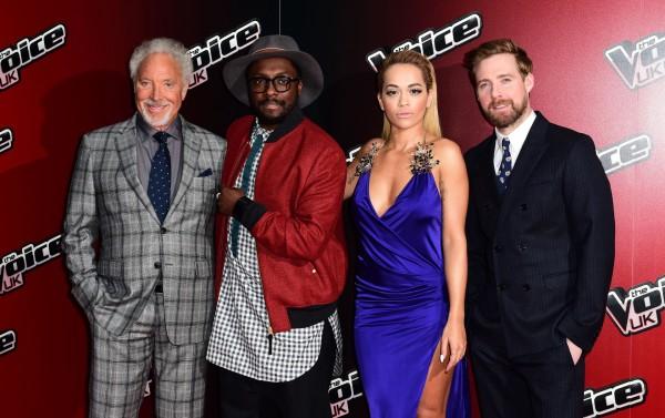 The Voice judges Sir Tom Jones, will.i.am, Rita Ora and Ricky Wilson