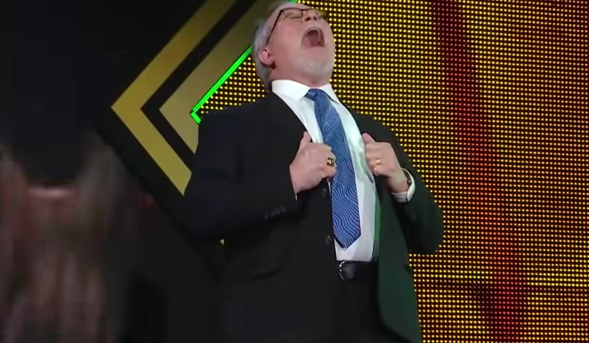 Ted DiBiase laughing during NXT WWE
