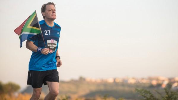 Eddie Izzard during marathon number ten in his gruelling Sport Relief challenge