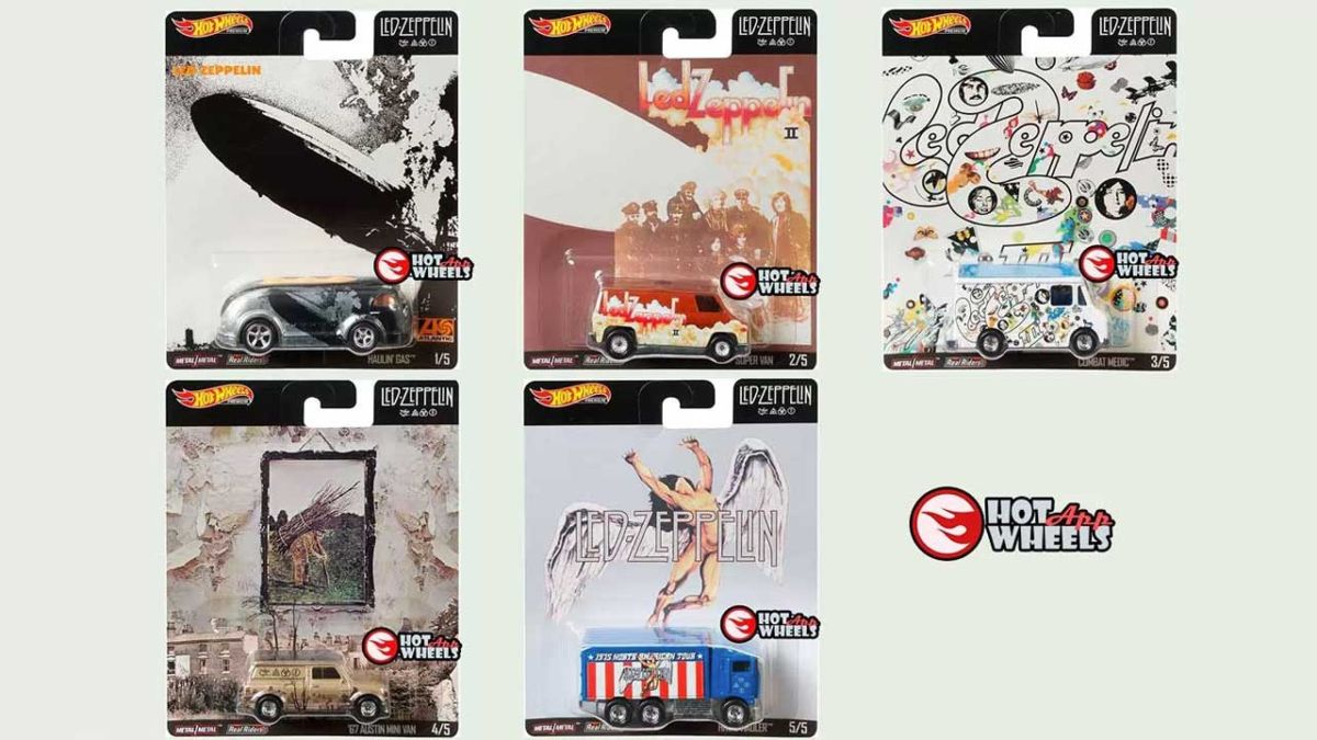 Led Zeppelin albums given new life as Hot Wheels toy vans