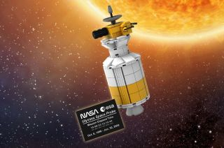 Lego VIP members can redeem 1,800 points for a model of the Ulysses solar probe, a NASA and European Space Agency (ESA) spacecraft launched aboard the space shuttle Discovery.