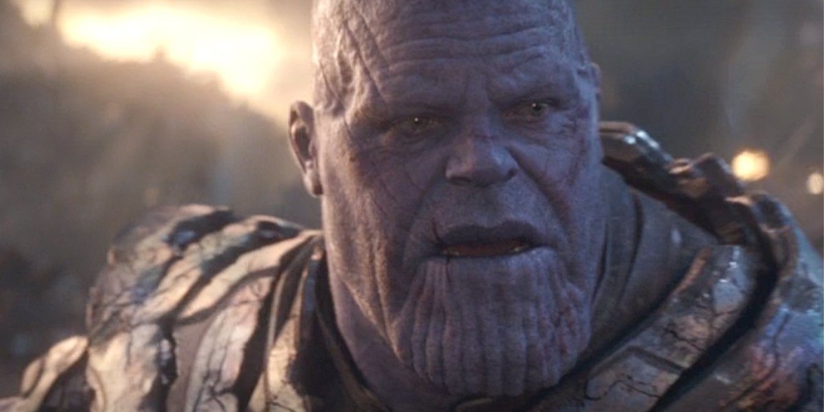 Thanos looks shocked Avengers: Endgame Marvel Studios