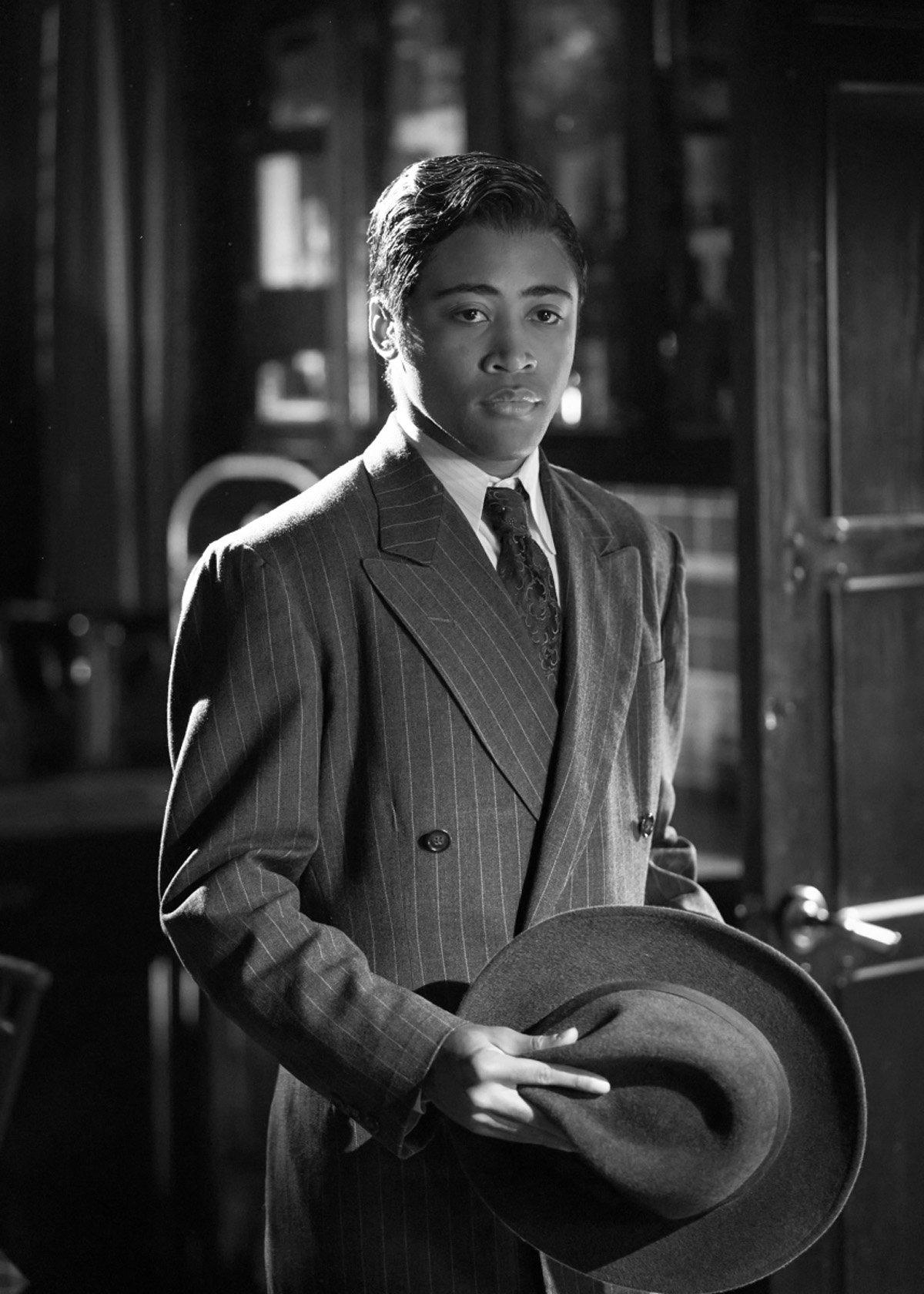 Legacies Season 2, Episode 14 The CW film noir MG in suit