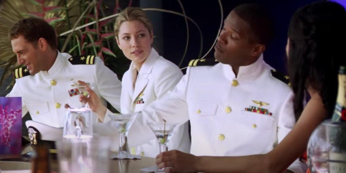 Josh Lucas, Jessica Biel, and Jamie Foxx in Stealth