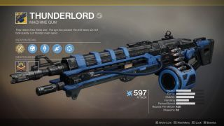 How to get the Thunderlord Exotic machine gun for Destiny 2