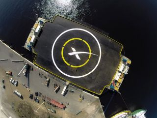 "SpaceX's ""autonomous spaceport drone ship"" measures 300 by 170 feet (91 by 52 meters) with its ""wings"" extended."