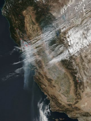 Suomi NPP View of California Wildfires