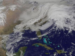 East Coast blizzard from space