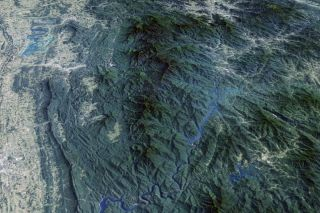 This image of the Great Smoky Mountains is a mosaic that was stitched together from the most cloud-free pixels snapped by the satellites Landsat 5 and Landsat 7 between 1986 and 2013.