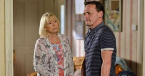 Billy Mitchell tells Pam Coker he's uncomfortable knowing the truth about Les Coker in EastEnders.