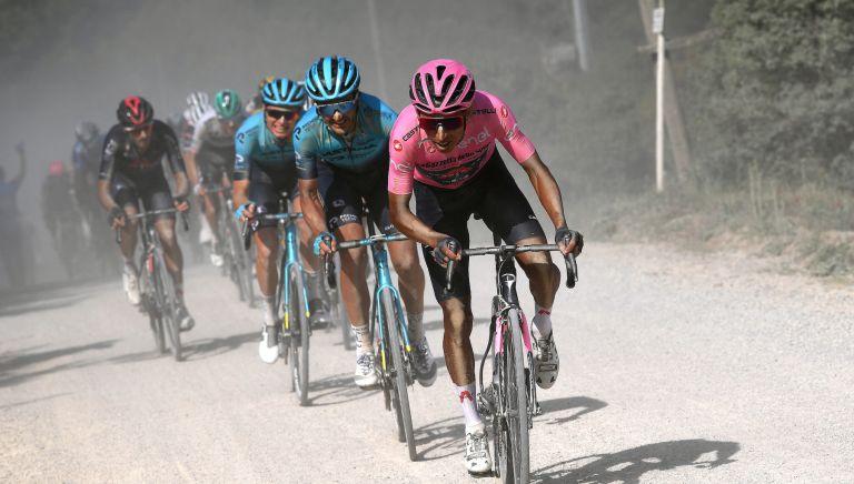 Egan Bernal on stage 11 of the Giro d'Italia